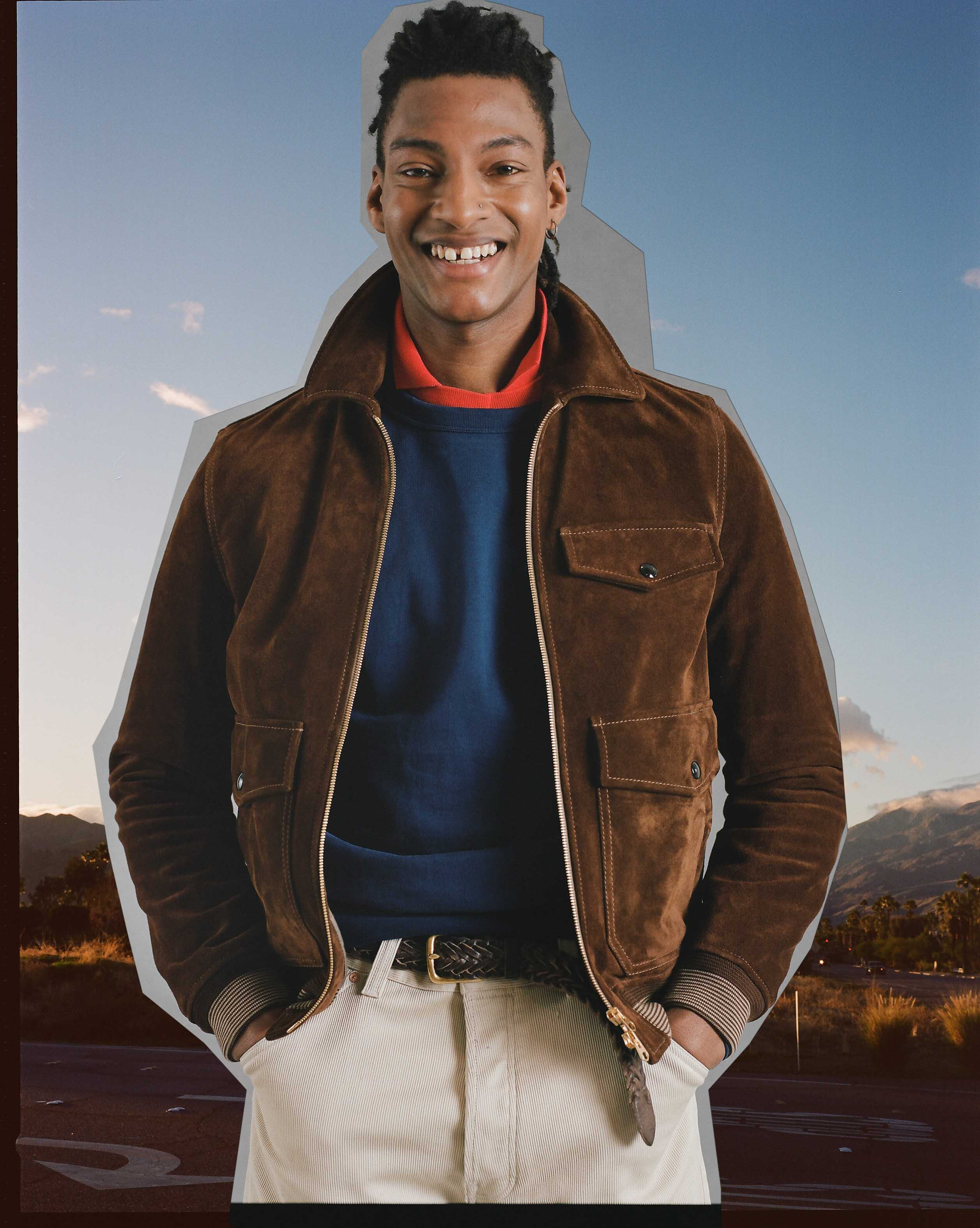The Caramel Suede A-2 Bomber Jacket