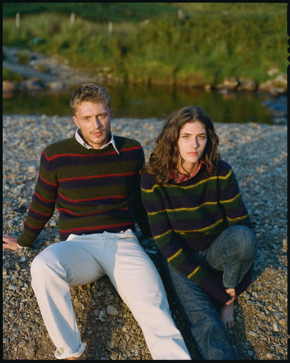 Pattern Recognition: Brushed Repp Stripe Jumpers