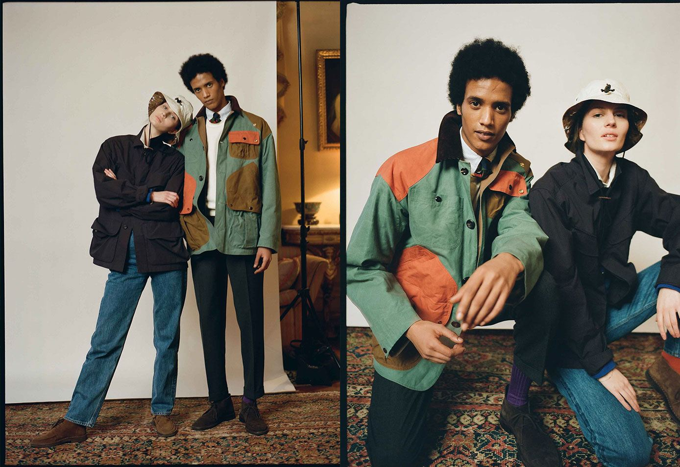 The Patchwork Waxed Cotton Chasseur Jacket