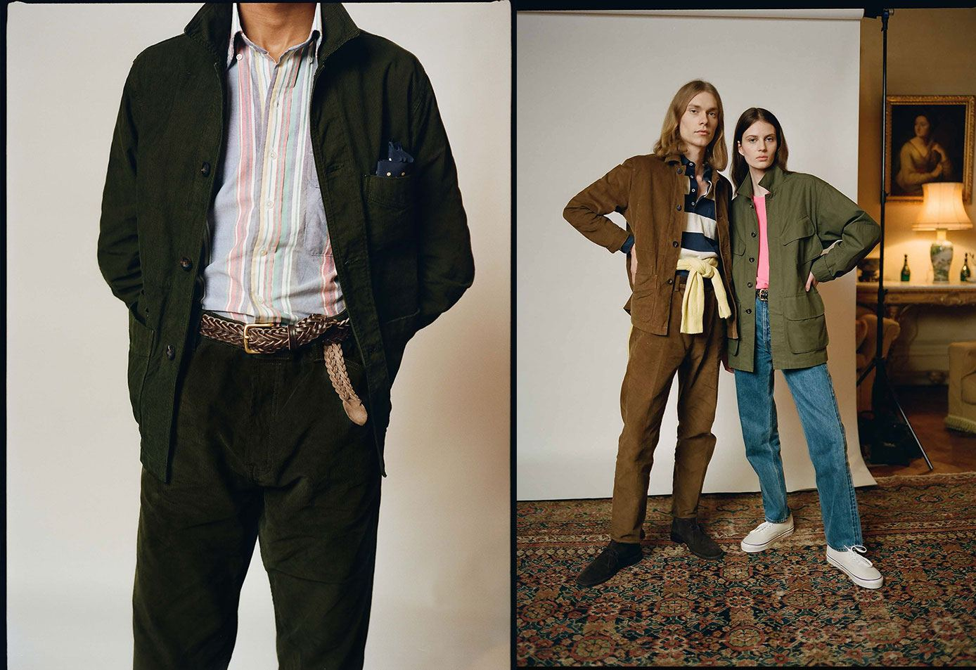 Japanese Selvedge Corduroy Five-Pocket Jackets and Trousers