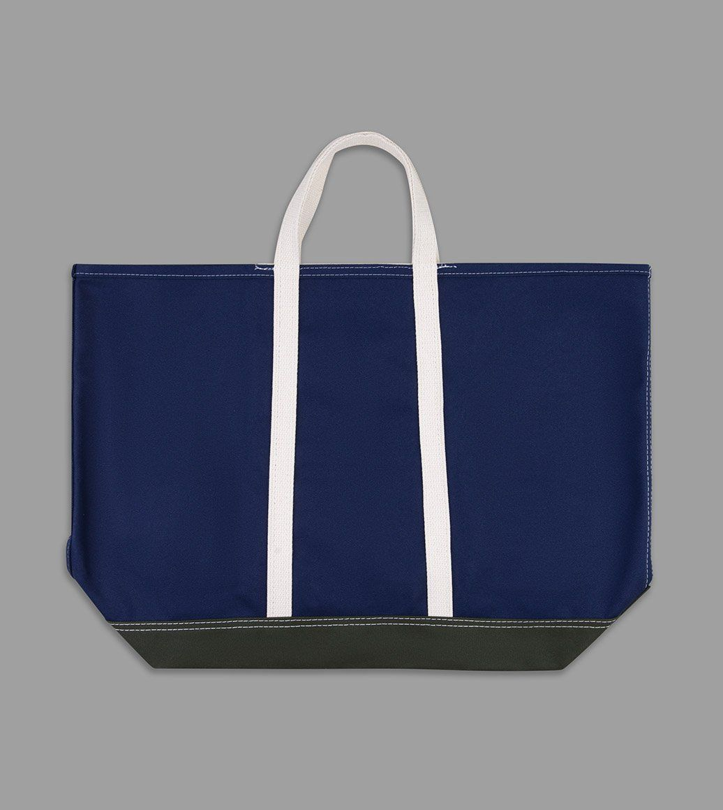 CANVAS TOTE BAG I can and I will navy