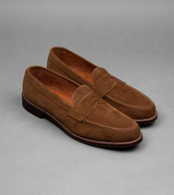 Alden Unlined Snuff Suede Penny Loafers