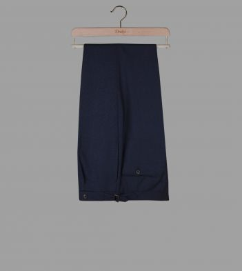 Navy Tropical Merino Wool Trousers