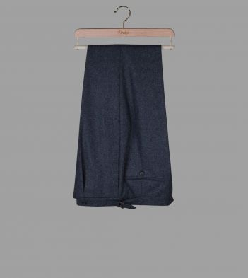 Grey Wool Flannel Trousers