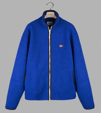 Royal Blue Single Zip-Front Fleece Jacket