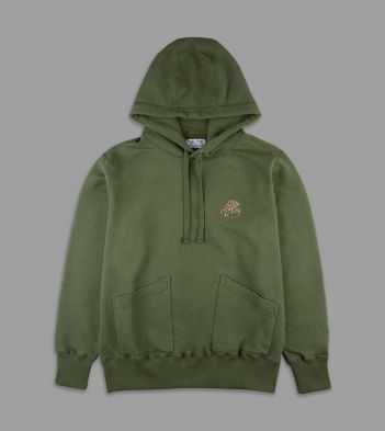 Aimé Leon Dore for Drake's Green 20oz Terry Cotton Hoodie