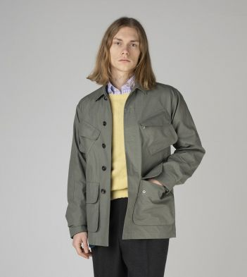 Sage Green Japanese Ripstop Cotton Jungle Jacket