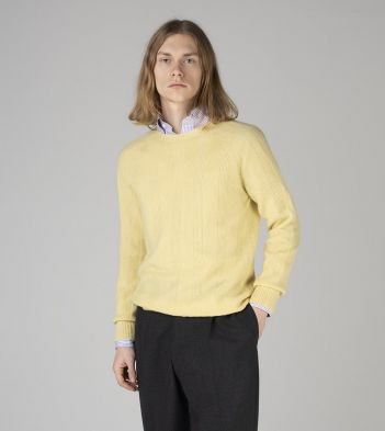Lemon Cashmere Seed Stitch Jumper