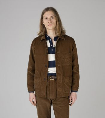 Tan Japanese Selvedge Corduroy Five-Pocket Chore Jacket