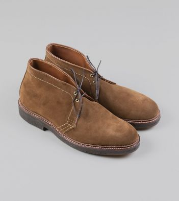 Alden for Drake's Tobacco Suede Chukka Boot with Double Crepe Sole