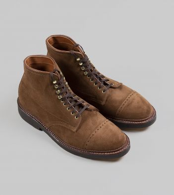 Alden for Drake's Snuff Suede Naval Boot