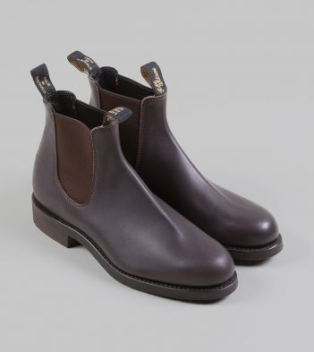 R.M. Williams BrownGreasy Kip Leather Gardener Boots
