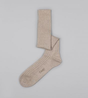 Fawn Cotton Over-the-Calf Socks