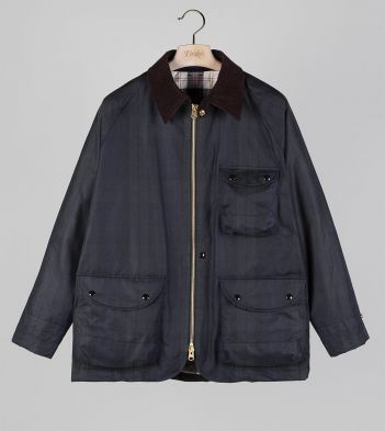 Blackwatch Check Waxed Cotton Coverall Jacket