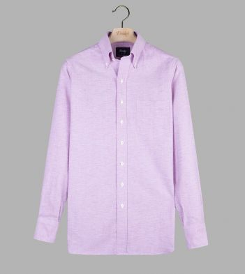 Magenta Cotton Oxford Cloth Button-Down Shirt