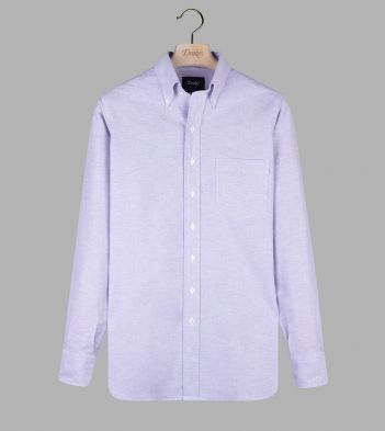 Lilac Cotton Oxford Cloth Button-Down Shirt