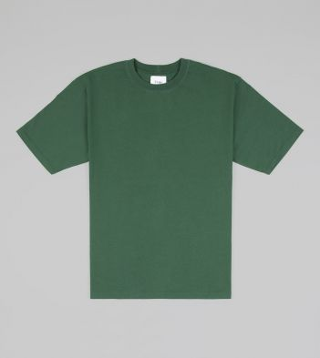 Forest Green Cotton Crew Neck Hiking T-Shirt