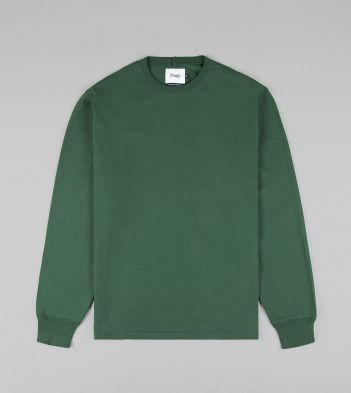 Forest Green Cotton Long-Sleeve Hiking T-Shirt
