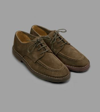 Chard Moc-Toe Derby Shoe Brown Suede
