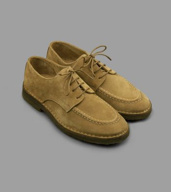 Chard Moc-Toe Derby Shoe Whiskey Suede