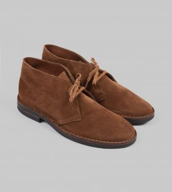 Clifford Desert Boot Light Brown Roughout Suede with Rubber Sole