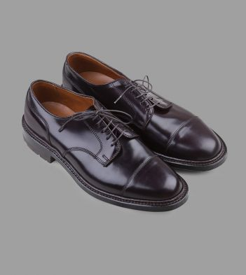 Alden for Drake's Burgundy 'Colour 8' Cordovan Commando Sole Cap Toe Blucher