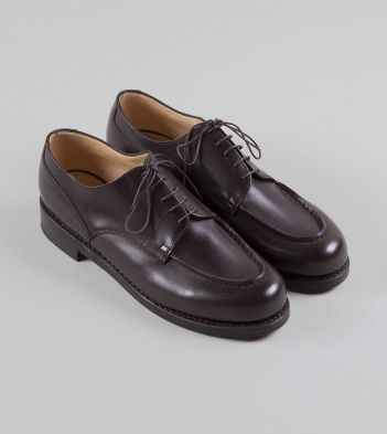 Paraboot Chambord Brown Calf Leather Derby Shoe