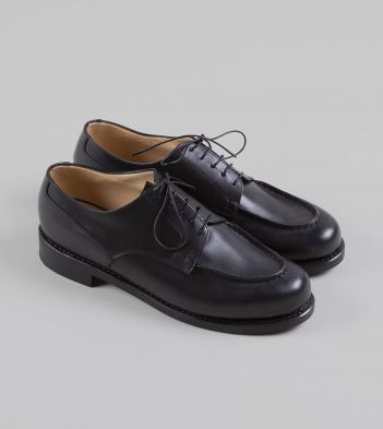 Paraboot Chambord Black Calf Leather Derby Shoe
