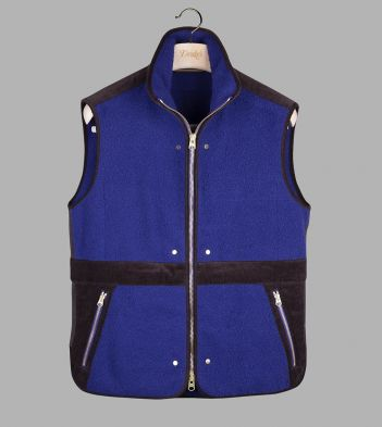 Royal Blue Casentino Wool Fleece Gilet