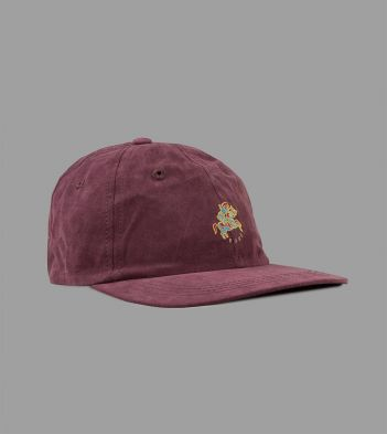 Aimé Leon Dore for Drake's Burgundy Cotton Baseball Cap