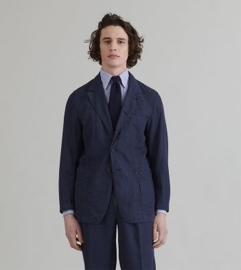 Dark Navy Cotton-Linen Games Blazer Mk. II