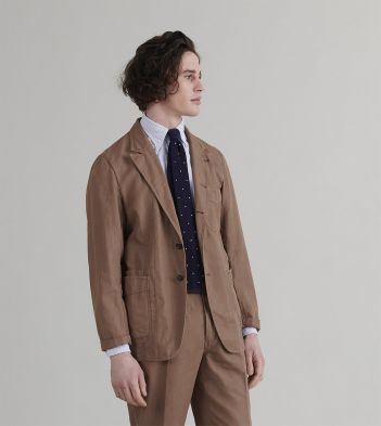 Taupe Cotton-Linen Games Blazer Mk. II