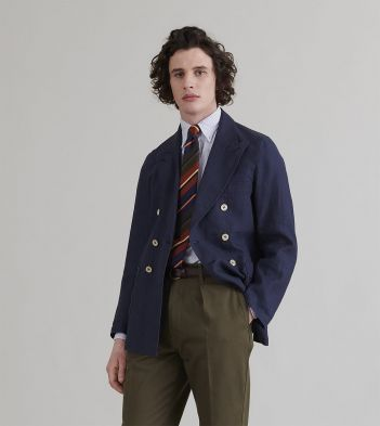 Navy Irish Linen Games Blazer Mk. III