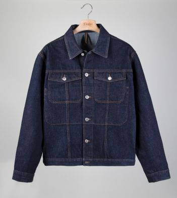 Indigo Wash Japanese Selvedge Denim Trucker Jacket