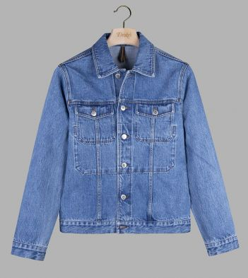 Bleach Wash Japanese Selvedge Denim Trucker Jacket