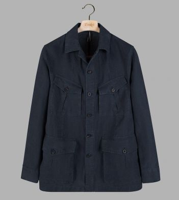 Navy Linen Games Tunic Jacket
