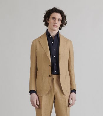 Sand Linen Tailored Jacket