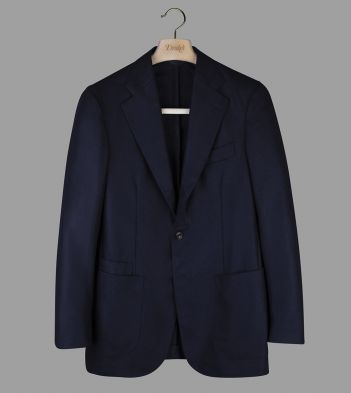 Navy Wool Flannel Jacket