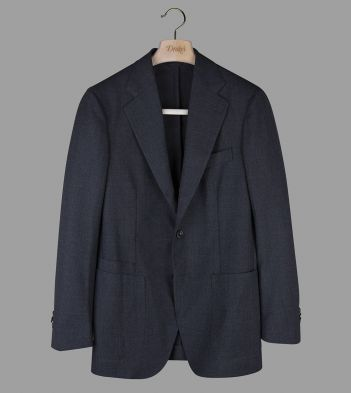 Charcoal Tropical Merino Wool Tailored Jacket
