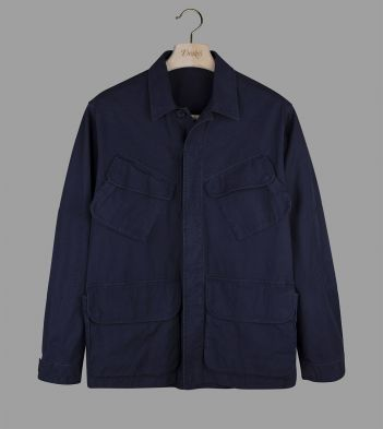 Navy Cotton Ripstop Jungle Jacket