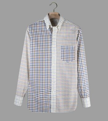 Aimé Leon Dore for Drake's Patchwork Tattersall Check Button-Down Shirt