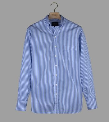 Blue and White Button Down Shirt