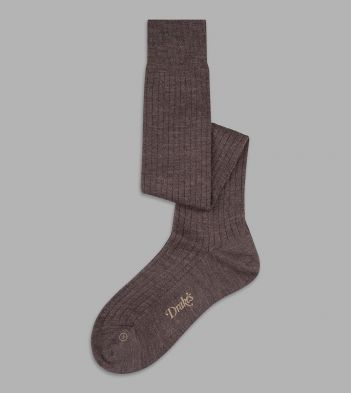 Brown Wool Over-the-Calf Socks