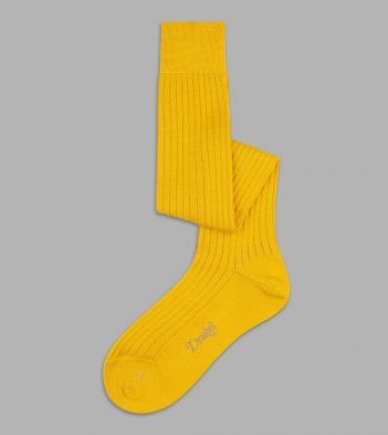 Gold Wool Over-the-Calf Socks