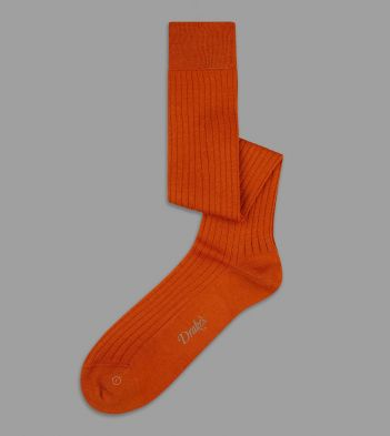 Orange Wool Over-the-Calf Socks