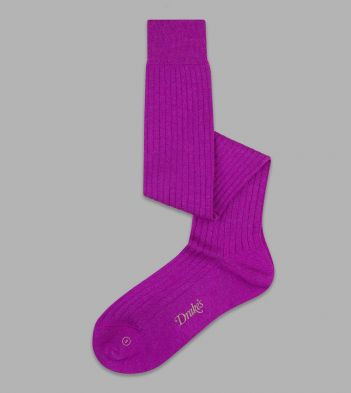 Dark Wine Wool Over-the-Calf Socks