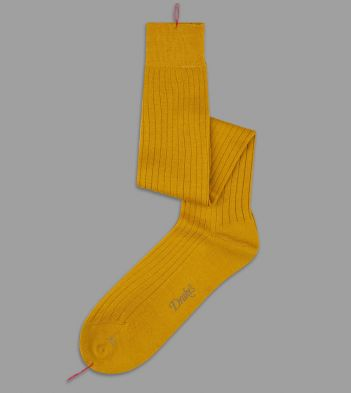 Yellow Over-The-Calf Wool Socks