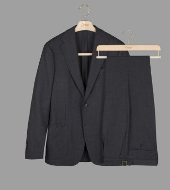 Grey Merino Wool Basketweave Suit