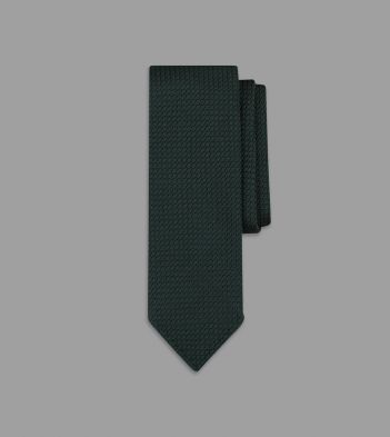 Green Handrolled Large Knot Grenadine Tie