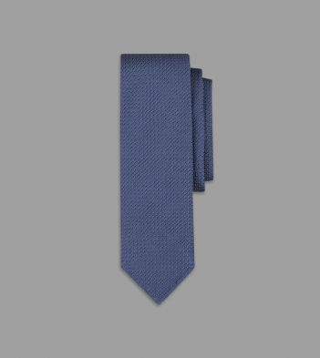 Petrol Blue Handrolled Large Knot Grenadine Tie